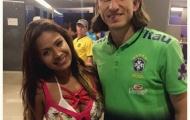 CĐV nổi tiếng của Peru bất ngờ xuất hiện cùng Filipe Luis