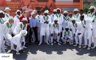 Không chỉ áo đấu, đồng phục sân bay của Nigeria cũng 'chất lừ'