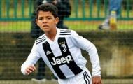 Thống kê gây choáng của Cristiano Ronaldo Jr ở đội trẻ Juventus