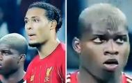 Phản ứng hài hước của tiền đạo Flamengo khi đứng cạnh Virgil van Dijk