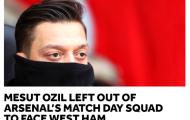 Nóng! Ozil tiếp tục ngồi ngoài trận derby London của Arsenal