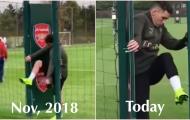 Lucas Torreira 'gây mê' với hành động kỳ quặc trên sân tập Arsenal