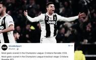 'Ông lão' Ronaldo liên tiếp phá kỷ lục Champions League