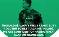 Max Allegri dùng 6 từ để mô tả trạng thái của Ronaldo