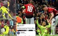 5 khoảnh khắc đáng xấu hổ sau lượt trận Châu Âu: 'Kẻ cắp Young gặp Bà già Alba'