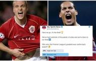 Đánh bại Van Dijk, huyền thoại Man Utd được chọn là trung vệ hay nhất lịch sử Premier League