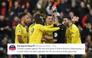 Arsenal kháng cáo bất thành, Aubameyang chính thức nghỉ 3 trận