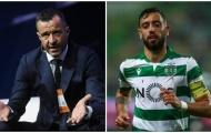 Vụ Man Utd - Fernandes có biến, Mendes báo tin quá xấu