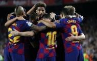 Không Griezmann, hàng công quen thuộc mở tiệc bàn thắng giúp Barca trở lại top 2