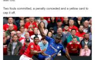Thống kê kinh hoàng của 'tội đồ' Chelsea trong thảm bại trước Man Utd