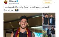 NÓNG: Santon đến Roma kiểm tra y tế trong ngày mai