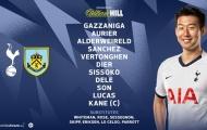 TRỰC TIẾP Tottenham - Burnley: Alli, Son, Kane xuất trận (Đội hình ra sân)
