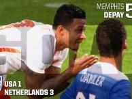 Memphis Depay ghi bàn bằng… mặt vào lưới ĐT Mỹ