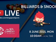 Trực tiếp SEA Games 28 ngày 7/6: Môn Billiards & Snooker