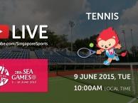 Trực tiếp SEA Games 28 ngày 9/6: Môn quần vợt (vòng loại)