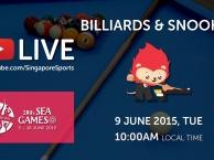 Trực tiếp SEA Games 28 ngày 9/6: Môn Billiards & Snooker (vòng tứ kết)