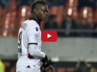 Tình huống dẫn đến thẻ đỏ vô duyên của Mario Balotelli vs Lorient