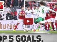 5 bàn thắng đẹp nhất vòng 21 Bundesliga