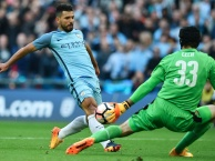 Aguero ghi bàn mở tỷ số cho Man City (Arsenal vs Man City, bán kết FA Cup)