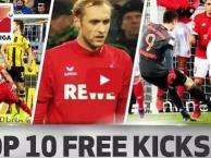 10 pha đá phạt đẹp mắt nhất Bundesliga 2016/17