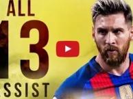 Tất cả 13 đường kiến tạo của Lionel Messi mùa 2016/17