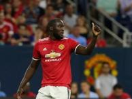 Bàn mở tỉ số của Romelu Lukaku vào lưới Man City