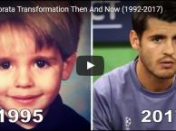 'Nhan sắc' của Morata biến đổi như thế nào từ thời thơ ấu?