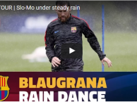 Messi, Neymar vẫn tập luyện mặc cơn mưa tầm tã