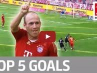 Top 5 bàn thắng cực đẹp của Arjen Robben ở Bundesliga