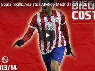 Diego Costa từng rất bá đạo trong màu áo Atletico Madrid