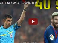 Thẻ đỏ đầu tiên và cũng là duy nhất trong sự nghiệp Messi