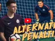 Bernardo Silva thi đá penalty với Phil Foden