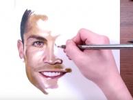 Bức tranh vẽ tay tuyệt đẹp dành cho Ronaldo