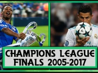 Tất cả bàn thắng ở các trận CK Champions League từ 2005 đến 2017