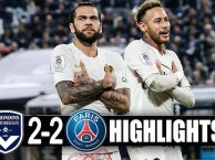 Highlights: Bordeaux 2-2 PSG (Vòng 15 Ligue 1)