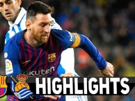 Highlights: Barcelona 2-1 Real Sociedad (La Liga)