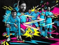 CHÍNH THỨC: Barca công bố mẫu áo sân khách mùa 2017/18