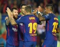 Barca 3-1 Olympiakos: Pique 'đi tắm' sớm, Messi cán cột mốc 100