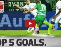 Chicharito có tên trong top 5 bàn thắng đẹp nhất vòng 5 Bundesliga