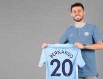 Bernardo Silva tươi tắn khoe áo đấu mới tại Man City