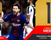 Vượt mặt Ronaldo, Messi xuất sắc nhất 2017 theo Four Four Two