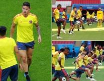 James Rodriguez và dàn sao Colombia căng thẳng trước giờ G