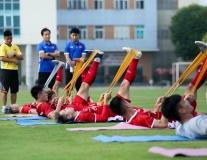 U23 Việt Nam tập nhẹ trong buổi đầu tập trung