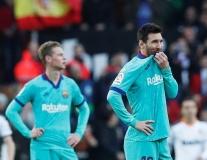 Kiểm soát bóng 74%, Barca vẫn thua tan nát trên sân của Valencia