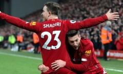 Liverpool cân nhắc giá bán 'siêu lời' dành cho Shaqiri
