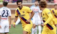 Phối hợp ăn ý, Griezmann - Suarez chung tay hủy diệt Napoli trên đất Mỹ