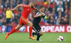 Mang băng thủ quân, Eden Hazard bất lực trước xứ Wales