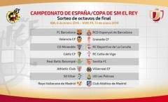 Bốc thăm vòng 1/16 cúp Nhà vua: Nội chiến xứ Catalan