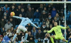 Man City tung ra 22 cú sút nhưng không thể thắng Everton