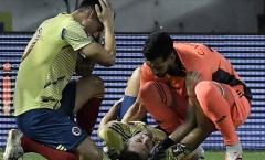 SỐC! Đồng đội chấn thương rợn người, James Rodriguez ôm đầu hốt hoảng